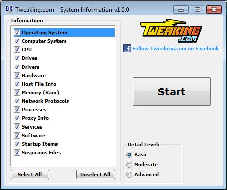 Tweaking.com - System Information