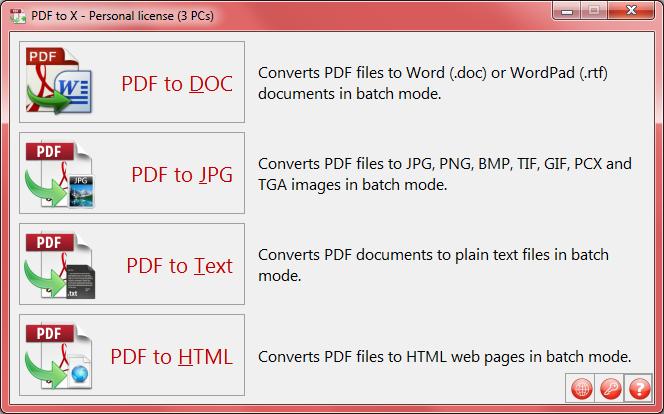 PDF to X