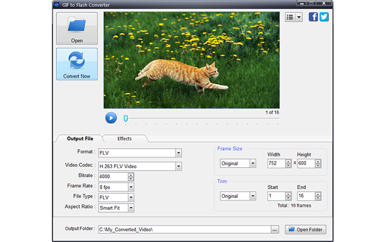 Program4Pc GIF to Flash Converter