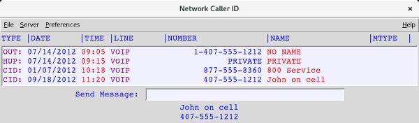 NCID (Network Caller ID)