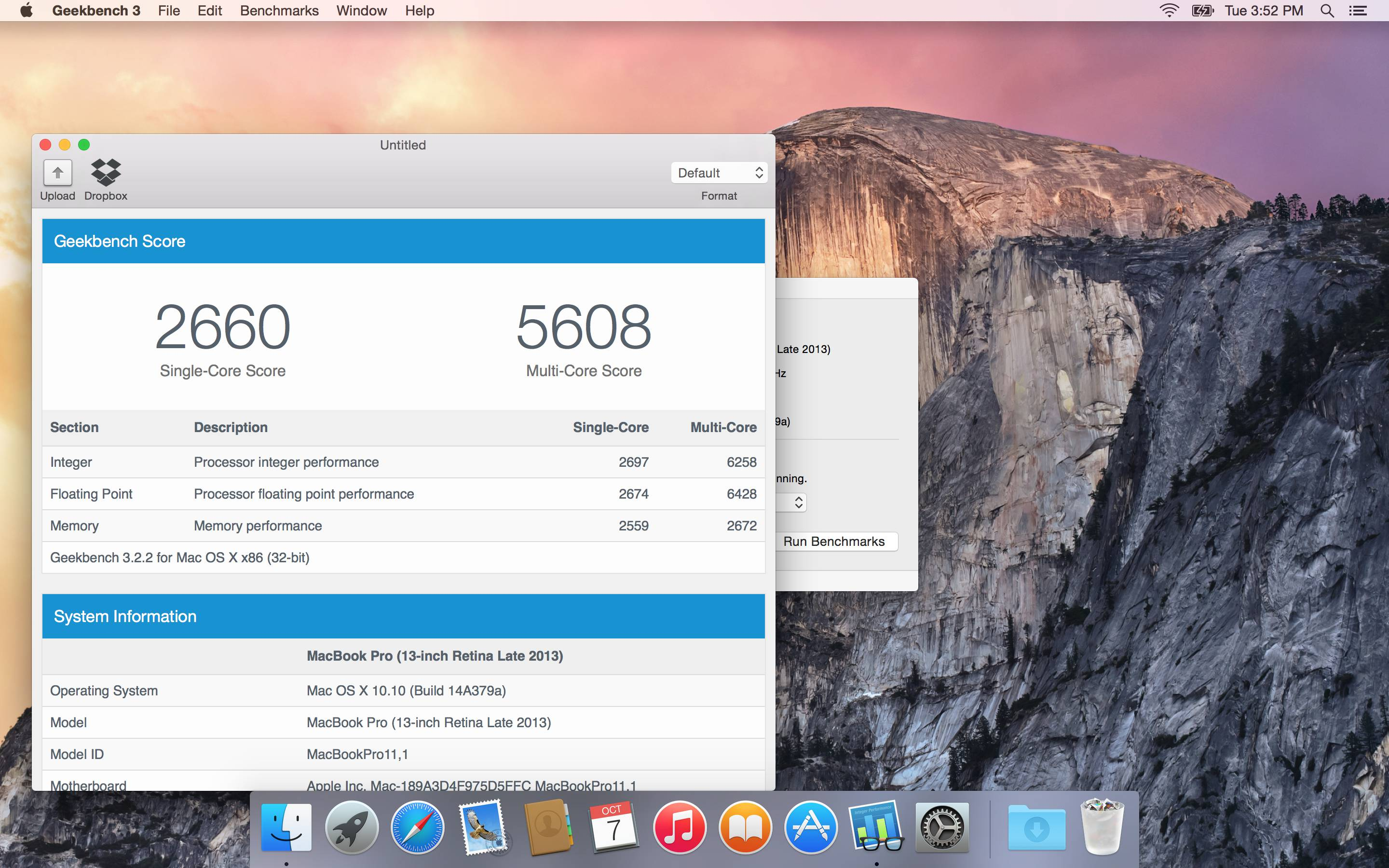 Geekbench for Mac OS X