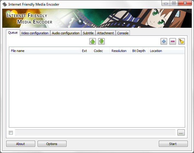 Internet Friendly Media Encoder for Windows