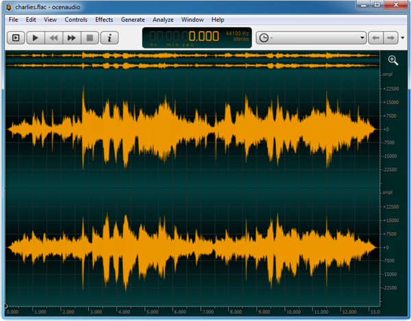 ocenaudio for Mac OS X