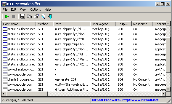 HTTPNetworkSniffer (64-bit)