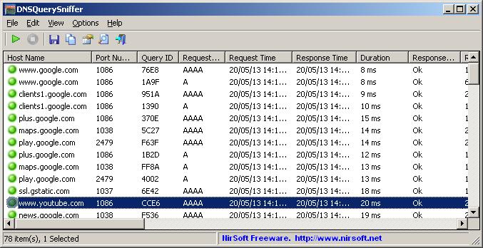 DNSQuerySniffer (64-bit)