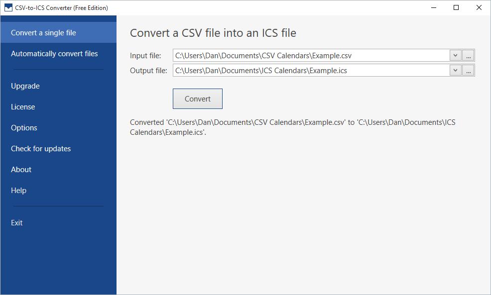 CSV-to-ICS Converter