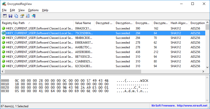EncryptedRegView (64-bit)