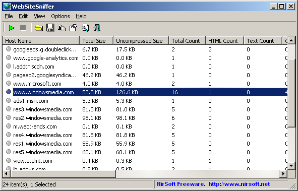 WebSiteSniffer (64-bit)