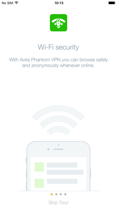 Avira Phantom VPN for iOS