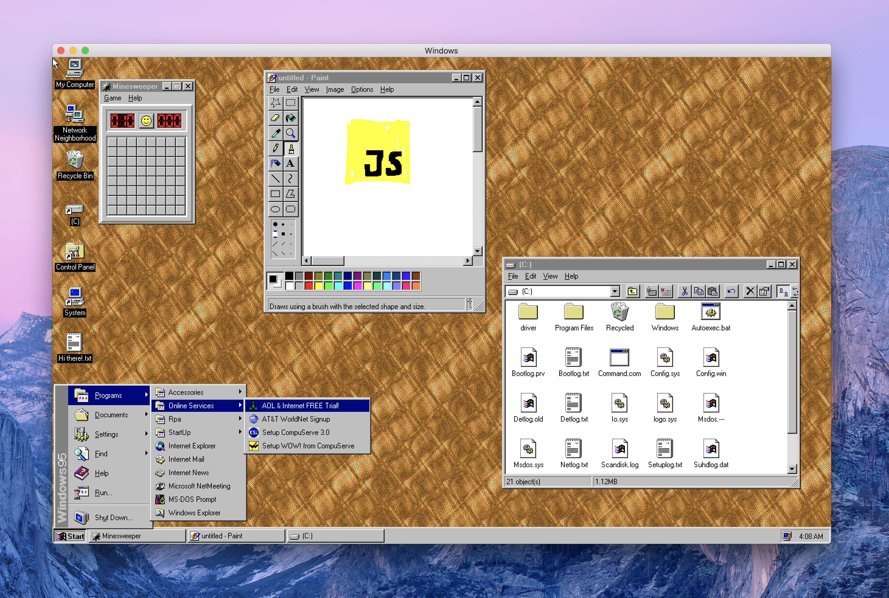 Windows95 for Windows