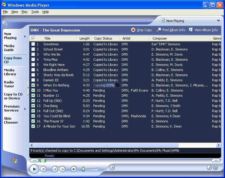 free  windows media player 9 xp full version