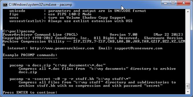 PowerArchiver Command Line | FileForum