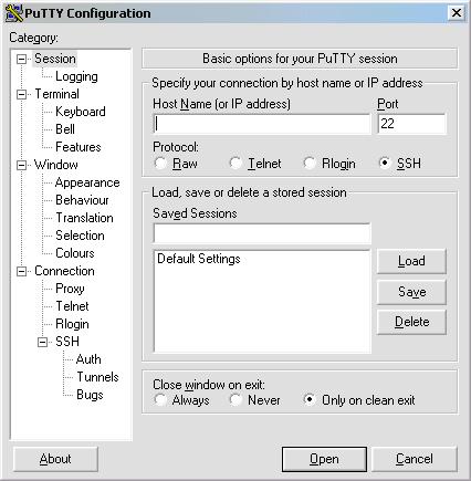 PuTTY 0.63