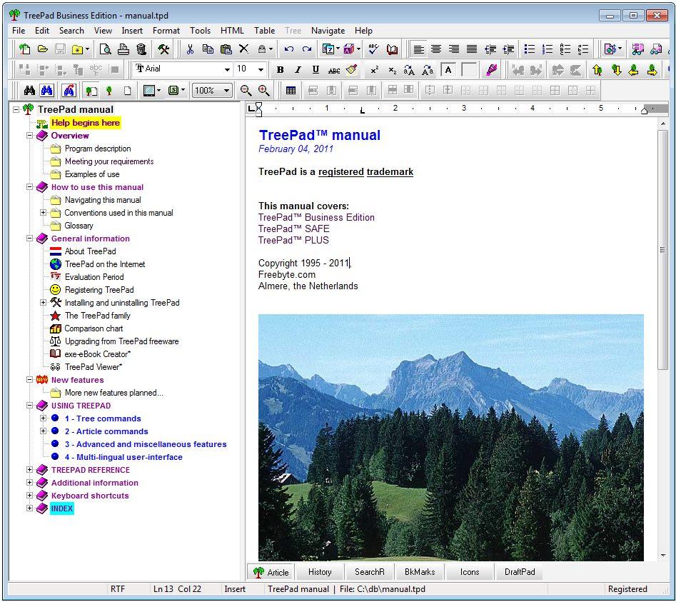 My TreeDB or Treepad Compare and